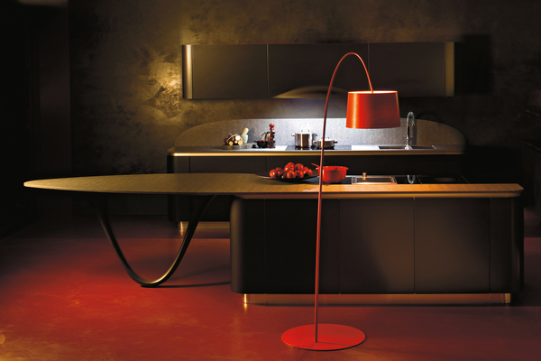 Red Design For Kitchen