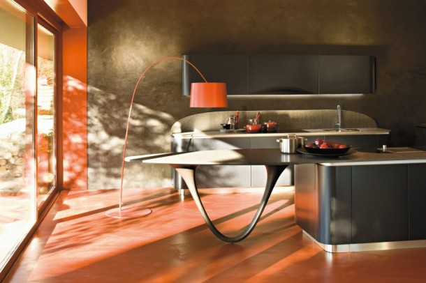 Red Pretty Kitchen By Snaidero's Ola Kitchen