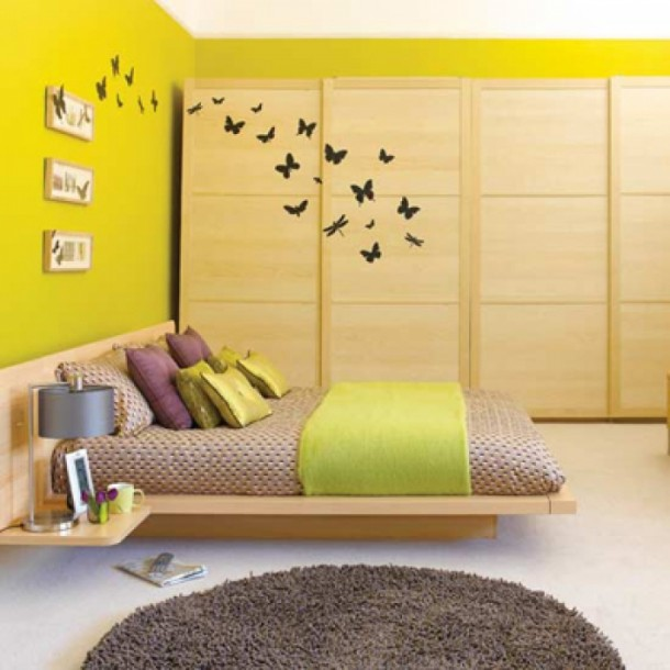 Wonderful Butterfly Art for Bedroom