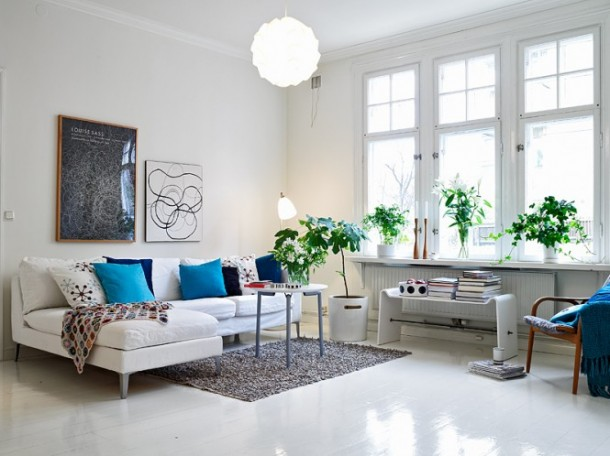 Wonderful plant decoration of bedroom