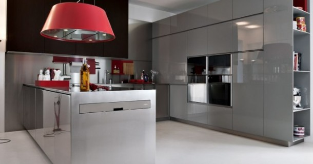 Beautiful look of modern kitchne