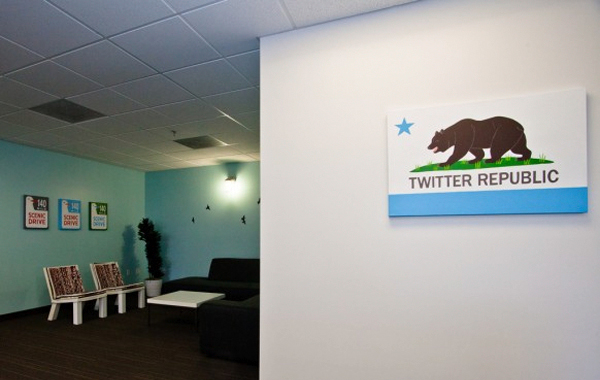Cool Office Design fro Twitter co