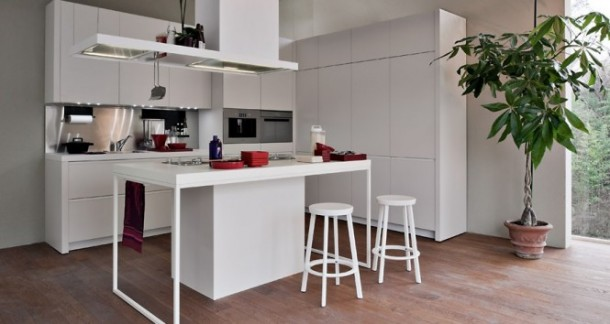 New modern design of kitchen