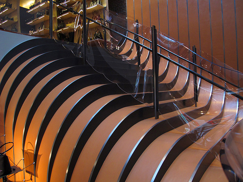 Longchamp's global flagship store stairs
