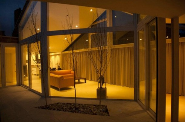 Awesome Transparent villa with sliding door