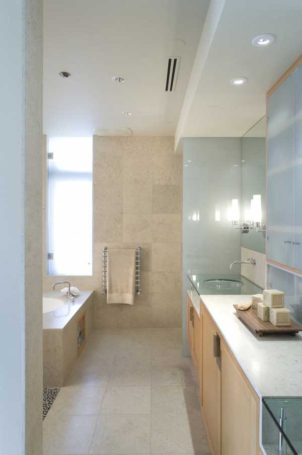 Bathroom Interior Cliff House by Scott Allen Architecture