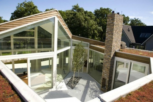 Beautiful Transparent Villa in The Netherlands Contemporary courtyard