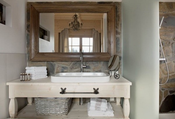 Beautiful Wooden Fairy Palace In Poland-Bathroom Mirror