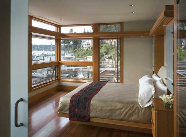 Bedroom Interior Cliff House by Scott Allen Architecture