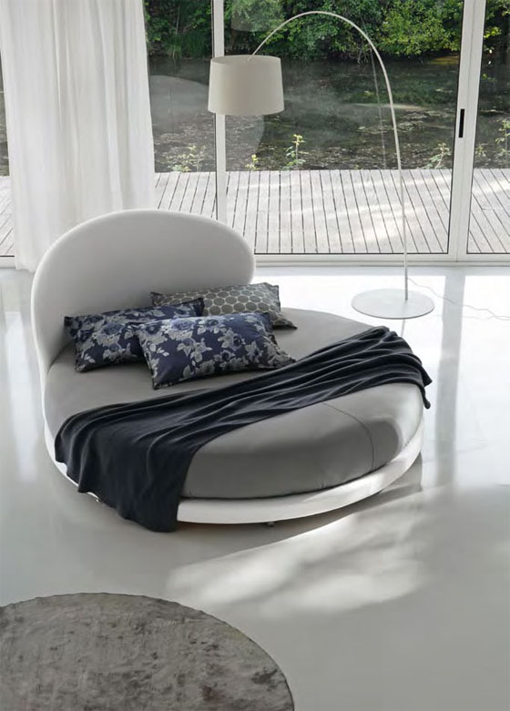 Contemporary Modern Round Bed Design Idea from Euroform