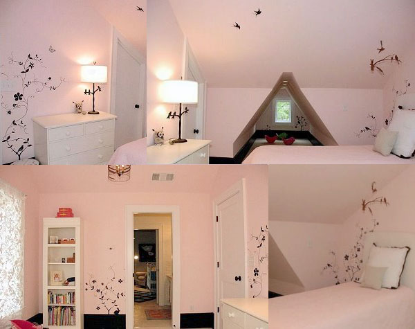 Dominent Pink color in Kids Interior Rooms