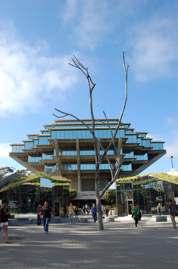 A great view of Geisel Library Building