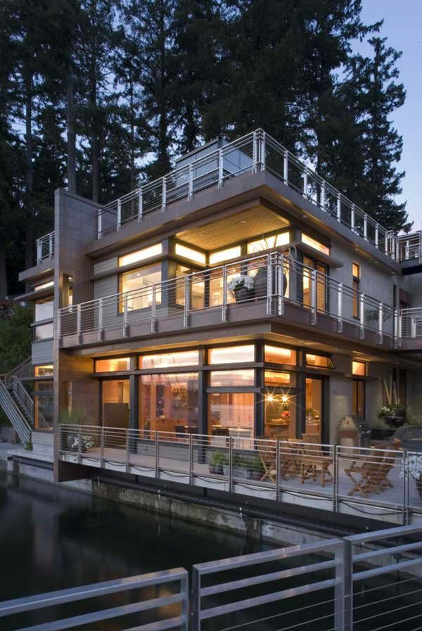 Exterior View Cliff House by Scott Allen Architecture