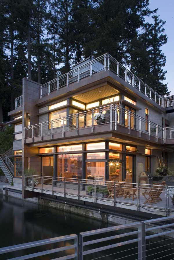Exterior View Cliff House by Scott Allen Architecture