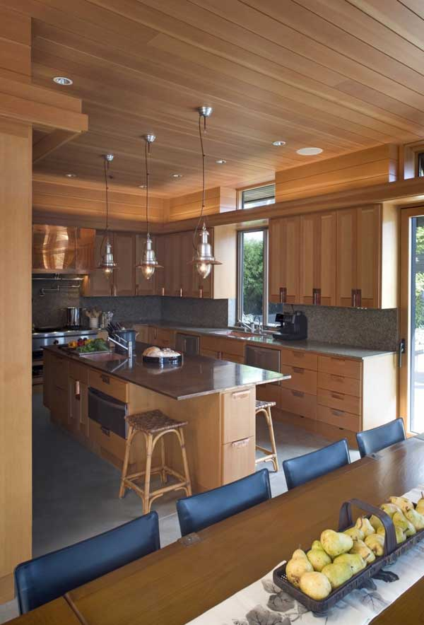 Kitchen Interior Cliff House by Scott Allen Architecture