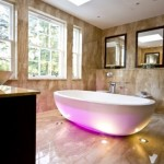 Purple Lamp Bathtub Bathroom Interior Design Ideas by Blanca Sanchez