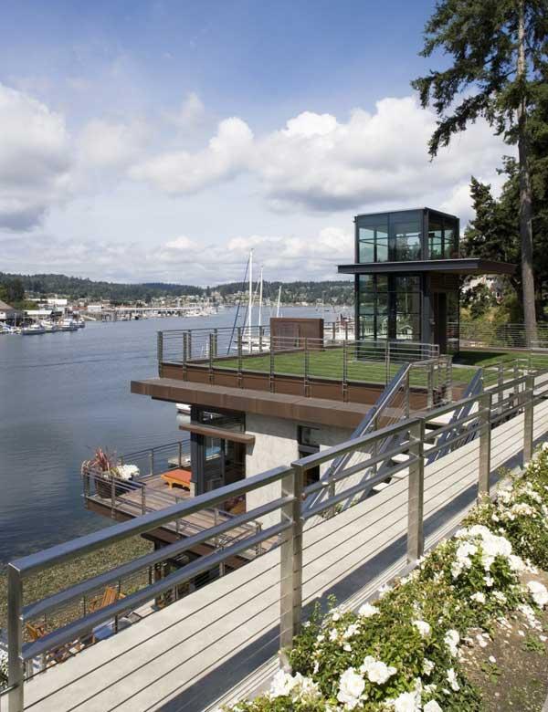 Roof Deck Cliff House by Scott Allen Architecture