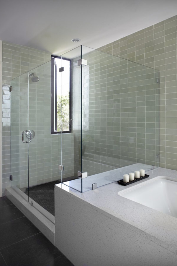Shower and Bathtub Ideas at Awesome Home Design in Lake Travis Residence