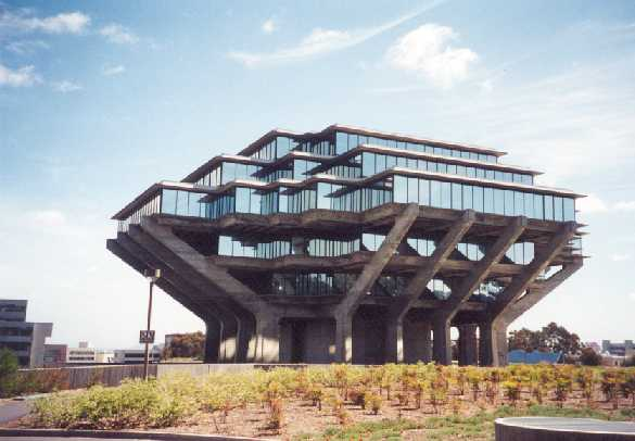 San Diego, CA UCSD Geisel Library view from the southwest