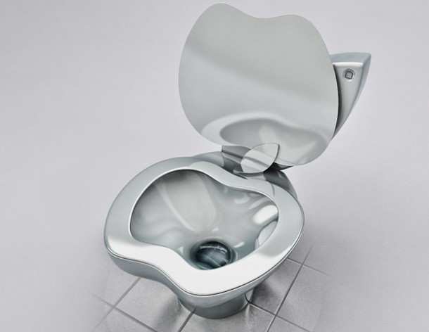 Unique iPoo Toilet Design For Real Apple Fans