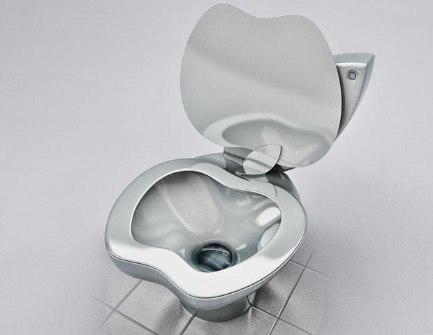 Unique iPoo Toilet Design For Real Apple Fans
