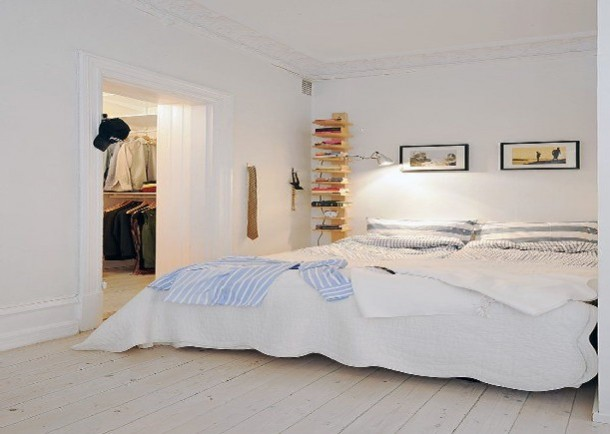 Unusual storage in bedroom