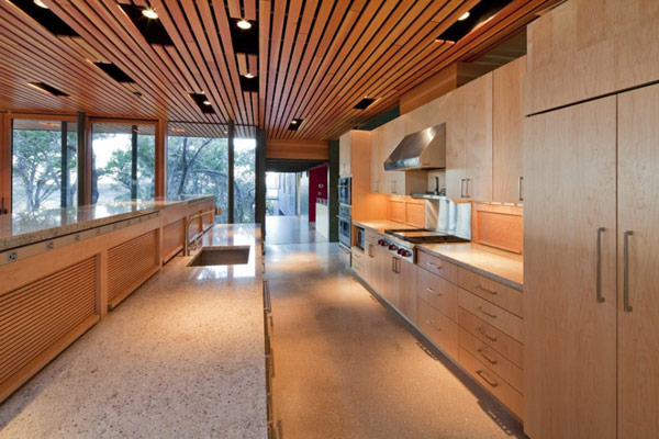 Wimberley House Wooden Kitchen Cabinets
