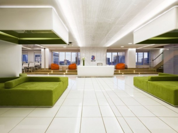 bright colored office of  Canadian Media Company