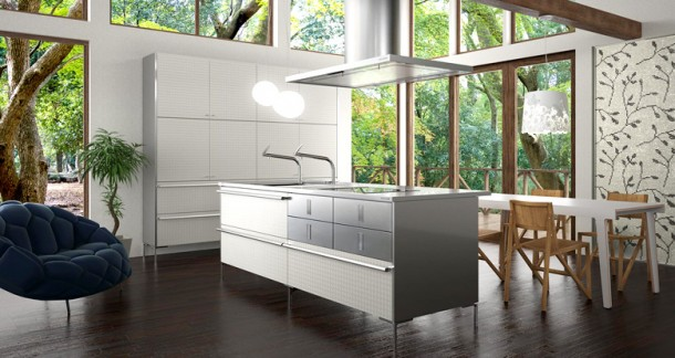 bright modern Japanese Kitchens Design