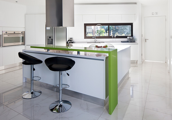 Modern Bar Chair and Minimalist Kitchen Carrara House