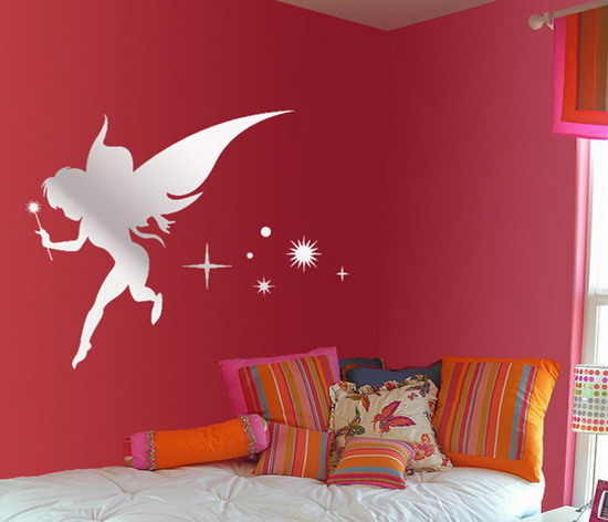 Decorative Walls with Special Creative and Illustrative Wall Mirror Stickers