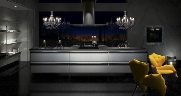 dark Japanese Kitchens Design