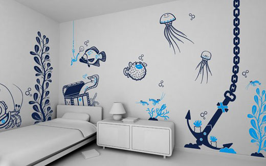 marine wall sticker