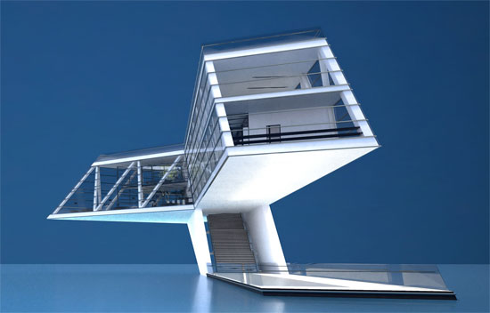 Cantilever steel structure