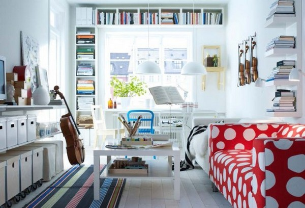 IKEA Catalog For Stylish Living Room 2012