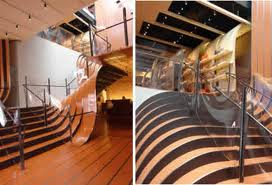 Beautiful flagship store stairs