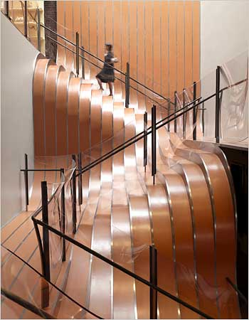 Unusual Stairs in Longchamp Flagship store in NYC