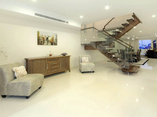luxury house design with innovative staircase