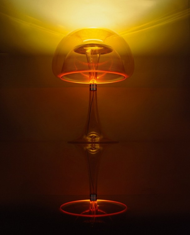 Beautiful Orange color table lamp aurelia by qisdesign