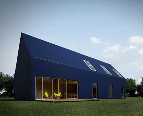 minimalist black house designed by moomoo architect
