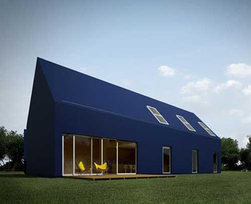 minimalist black house designed by moomoo architect