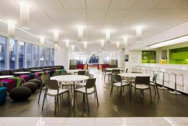Canadian Media Company office cafe