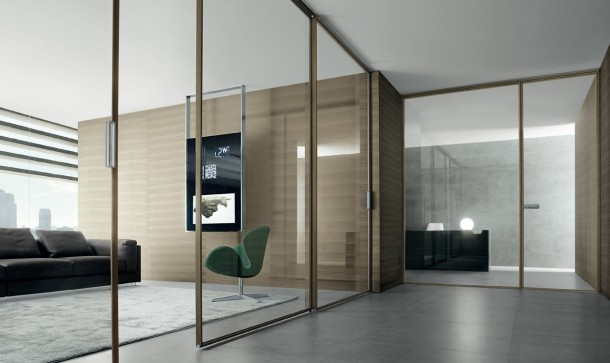 SPIN Door designed by Rimadesio