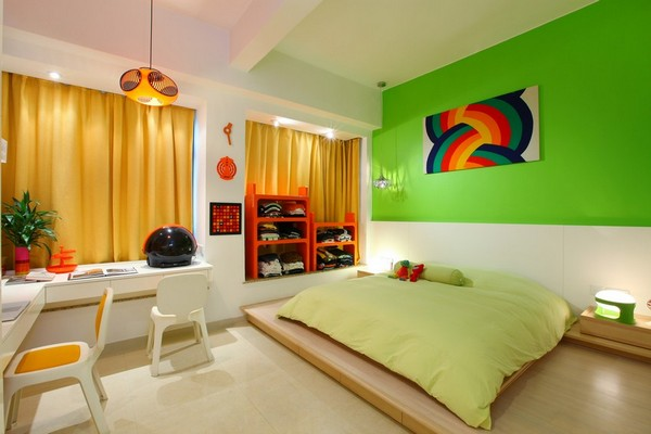 Colorful Rainbow Inspired Home Interior Design by Max Lam