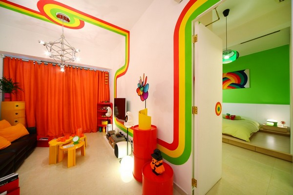 Colorful Home Design Inspired By Rainbow, Design By Max Lam