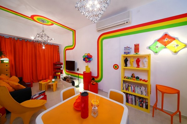 The colorful Home Design inspired by Rainbow