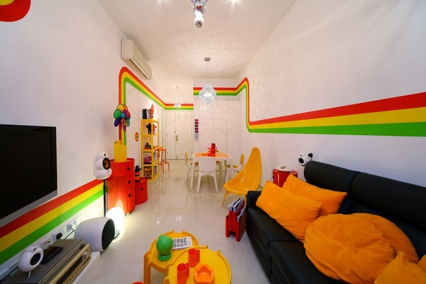 Rainbow Interior House Design