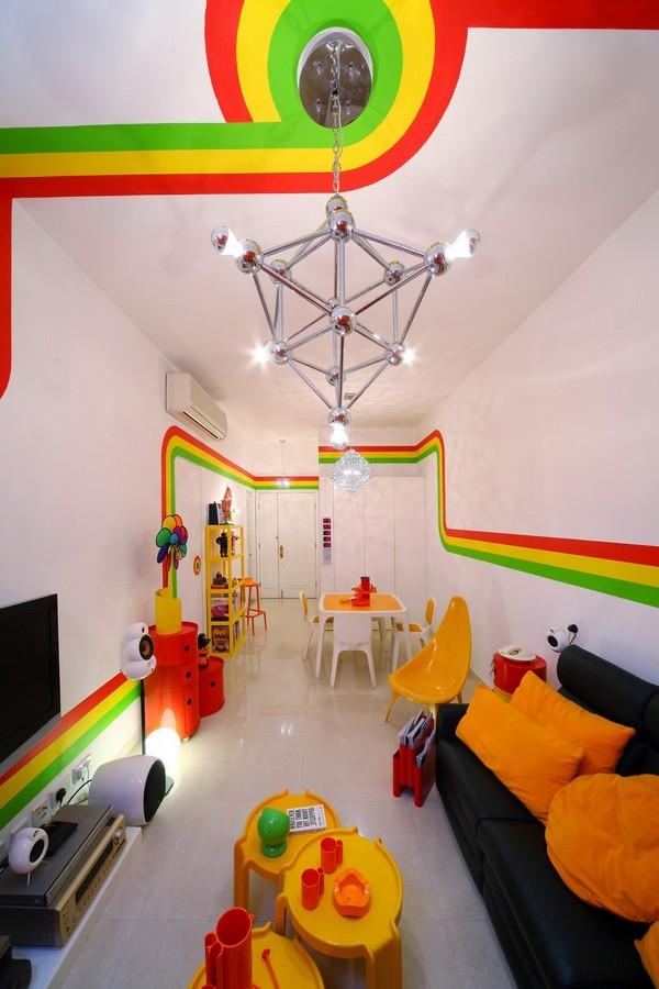 Colorful Rainbow Interior