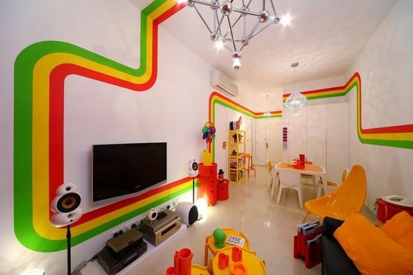 Beautiful Tv Lounge in rainbow house