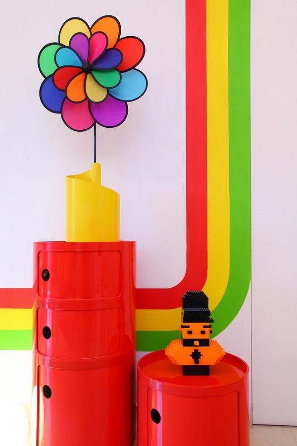 Colorful rainbow house